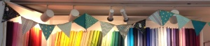 completed celebratory bunting