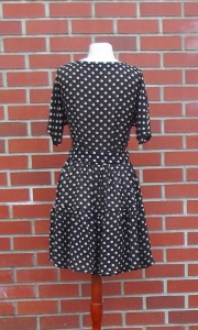 Jeannie's Polka Dot dress - back