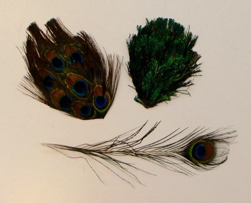 NSB - peacock feather millinery supplies