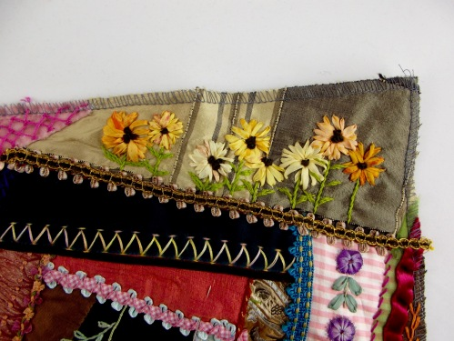 NSB - kitrina crazy quilt sunflower detail
