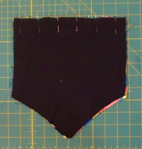 NSB - purse tutorial pin purse lining to front