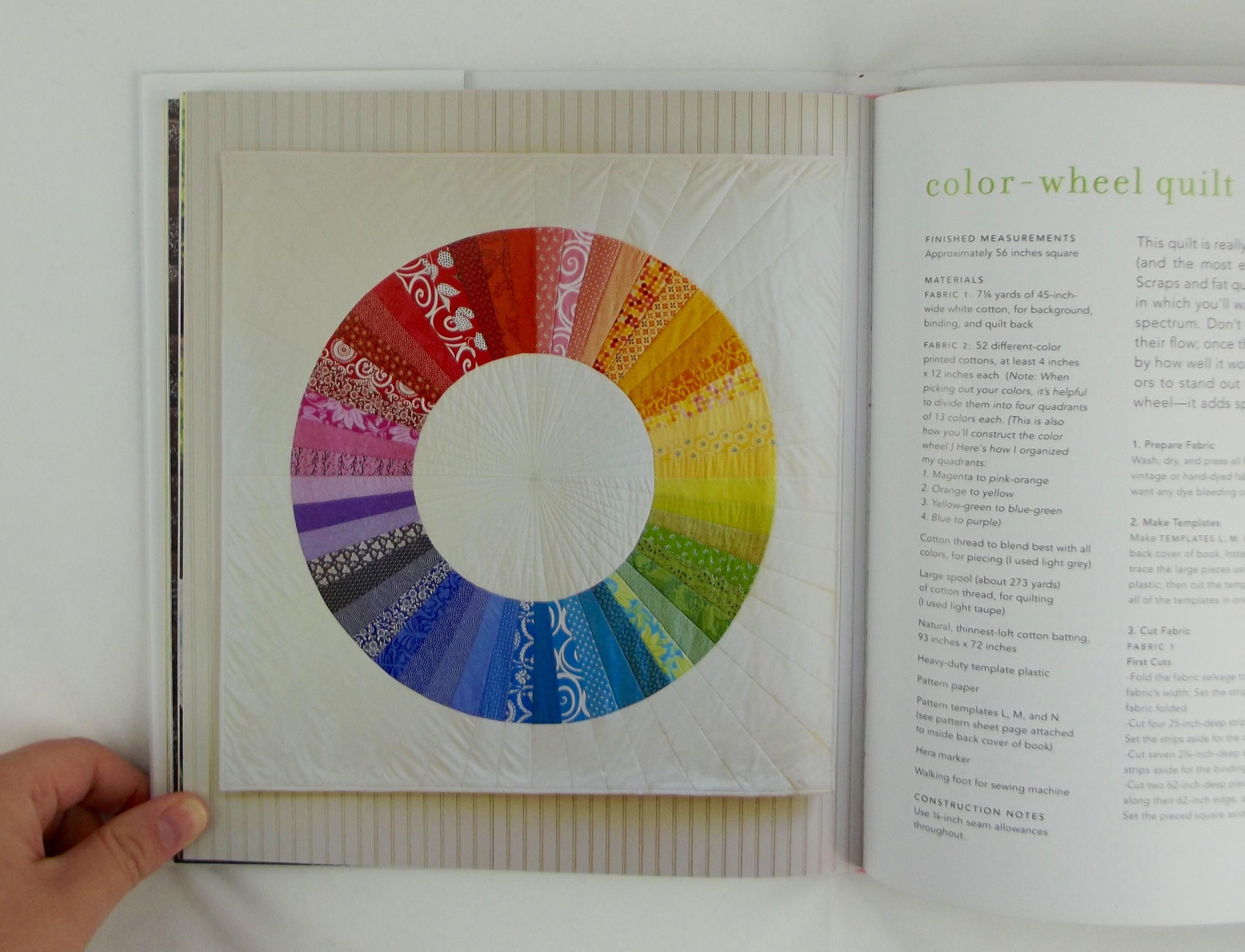 nsb jh color wheel quilt in book - Color Theory Book