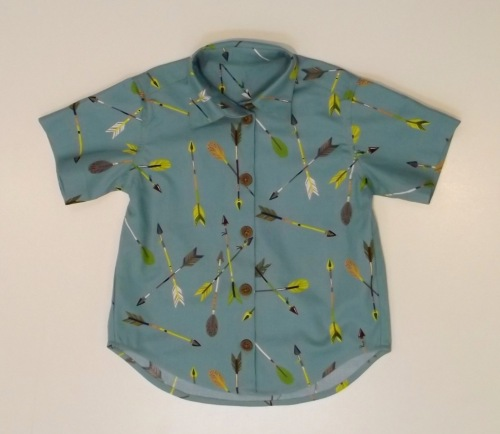 NSB - boy button front shirt
