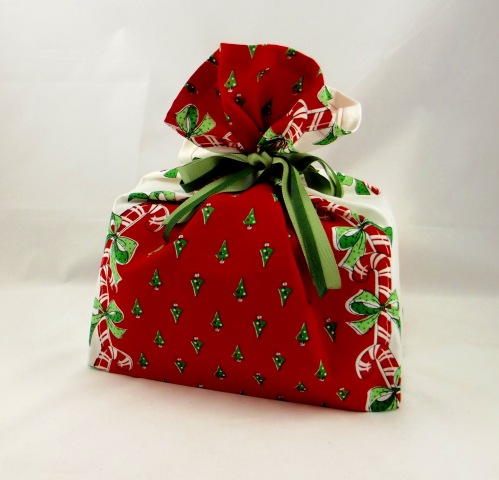 NSB - reusable gift wrap grocery bag pattern