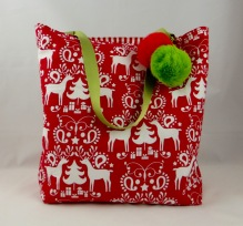 NSB - reusable gift wrap large tote outside