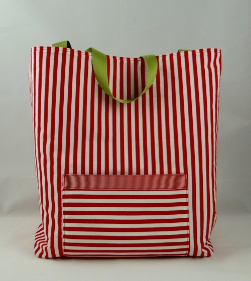 NSB - reusable gift wrap large tote pocket outside
