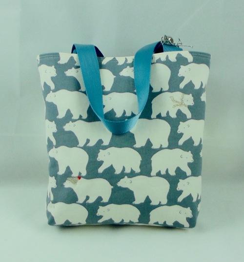 NSB - reusable gift wrap small tote outside