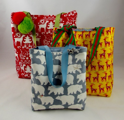 NSB - reusable gift wrap three totes