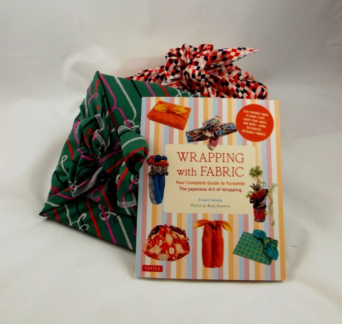 NSB - reusable gift wrap with fabric and book