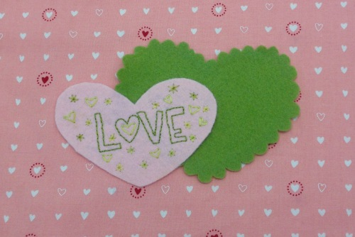 NSB – heartfelt doily embroidered small heart