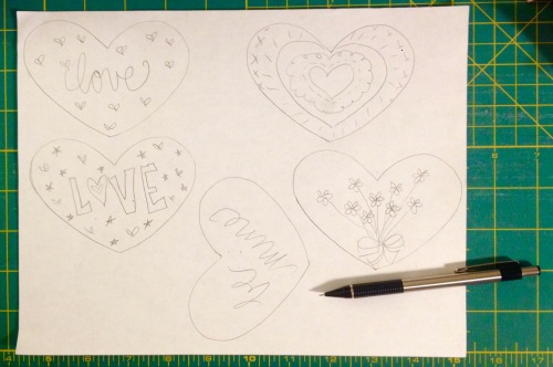 NSB – heartfelt doily sketch