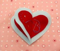 NSB – heartfelt ornament running stitch side two