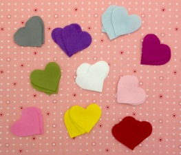 NSB - heartfelt ch two color hearts cut felt