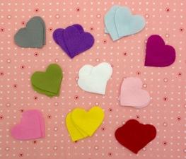 NSB - heartfelt ch two color hearts cut felt