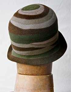 NSB - IzzieLewis felt cloche made from scrap