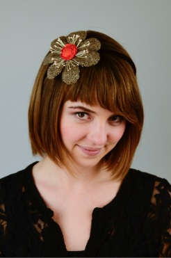 NSB - IzzieLewis tweed head piece